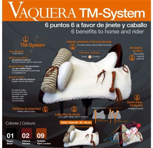 Zaldi Vaquera TM saddle